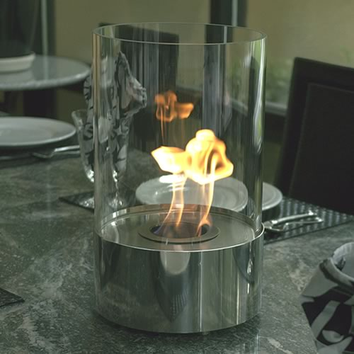 Nu Flame Accenda Portable Decorative Ethanol Burning Tabletop Bio Fireplace