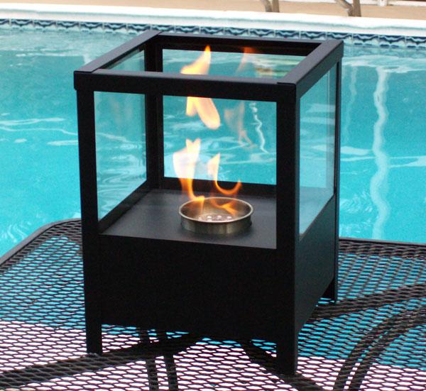 nu flame sparo indoor outdoor ethanol party lantern fireplace. Black Bedroom Furniture Sets. Home Design Ideas